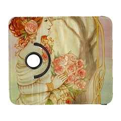 Beautiful Art Nouveau Lady Galaxy S3 (flip/folio) by 8fugoso