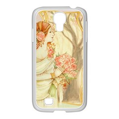 Beautiful Art Nouveau Lady Samsung Galaxy S4 I9500/ I9505 Case (white) by 8fugoso