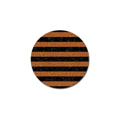Stripes2 Black Marble & Rusted Metal Golf Ball Marker by trendistuff