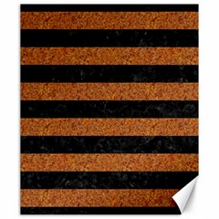 Stripes2 Black Marble & Rusted Metal Canvas 20  X 24   by trendistuff