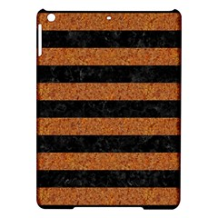 Stripes2 Black Marble & Rusted Metal Ipad Air Hardshell Cases by trendistuff