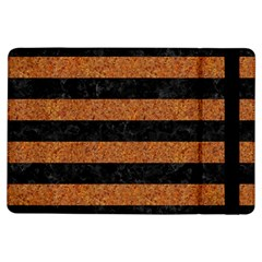 Stripes2 Black Marble & Rusted Metal Ipad Air Flip by trendistuff