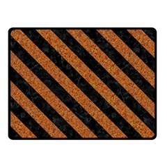 Stripes3 Black Marble & Rusted Metal Double Sided Fleece Blanket (small)  by trendistuff