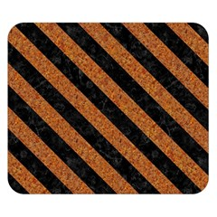 Stripes3 Black Marble & Rusted Metal Double Sided Flano Blanket (small)  by trendistuff