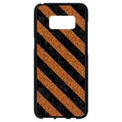 Stripes3 Black Marble & Rusted Metal Samsung Galaxy S8 Black Seamless Case by trendistuff