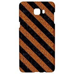 Stripes3 Black Marble & Rusted Metal Samsung C9 Pro Hardshell Case  by trendistuff