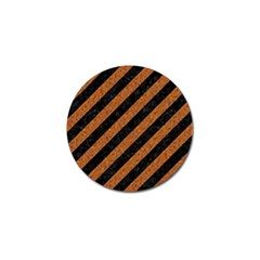 Stripes3 Black Marble & Rusted Metal (r) Golf Ball Marker by trendistuff