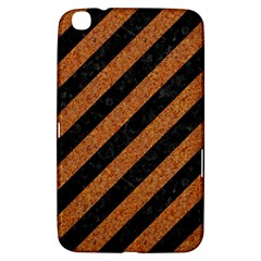 Stripes3 Black Marble & Rusted Metal (r) Samsung Galaxy Tab 3 (8 ) T3100 Hardshell Case  by trendistuff