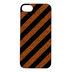 Stripes3 Black Marble & Rusted Metal (r) Apple Iphone 5s/ Se Hardshell Case by trendistuff
