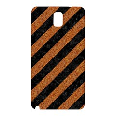 Stripes3 Black Marble & Rusted Metal (r) Samsung Galaxy Note 3 N9005 Hardshell Back Case by trendistuff