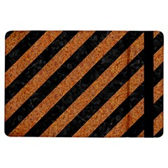 Stripes3 Black Marble & Rusted Metal (r) Ipad Air Flip by trendistuff