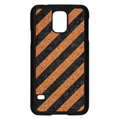 Stripes3 Black Marble & Rusted Metal (r) Samsung Galaxy S5 Case (black) by trendistuff