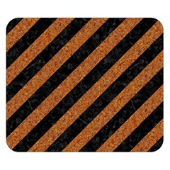 Stripes3 Black Marble & Rusted Metal (r) Double Sided Flano Blanket (small)  by trendistuff