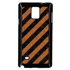 Stripes3 Black Marble & Rusted Metal (r) Samsung Galaxy Note 4 Case (black) by trendistuff