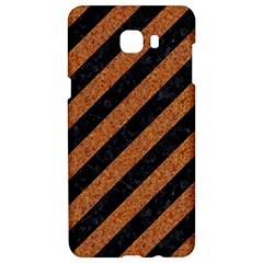 Stripes3 Black Marble & Rusted Metal (r) Samsung C9 Pro Hardshell Case  by trendistuff