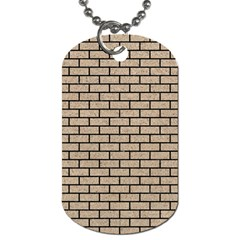 Brick1 Black Marble & Sand Dog Tag (one Side) by trendistuff