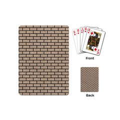 Brick1 Black Marble & Sand Playing Cards (mini)  by trendistuff