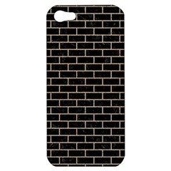 Brick1 Black Marble & Sand (r) Apple Iphone 5 Hardshell Case by trendistuff