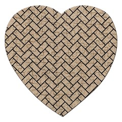 Brick2 Black Marble & Sand Jigsaw Puzzle (heart) by trendistuff
