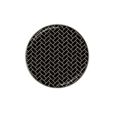 Brick2 Black Marble & Sand (r) Hat Clip Ball Marker (4 Pack) by trendistuff