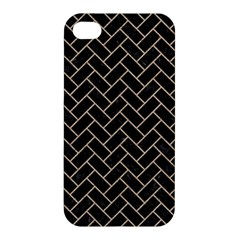 Brick2 Black Marble & Sand (r) Apple Iphone 4/4s Hardshell Case by trendistuff