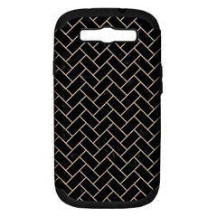 Brick2 Black Marble & Sand (r) Samsung Galaxy S Iii Hardshell Case (pc+silicone) by trendistuff