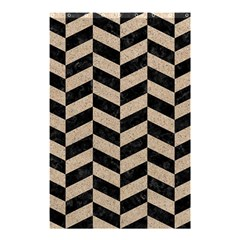 Chevron1 Black Marble & Sand Shower Curtain 48  X 72  (small)  by trendistuff
