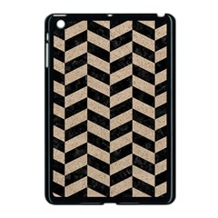 Chevron1 Black Marble & Sand Apple Ipad Mini Case (black) by trendistuff