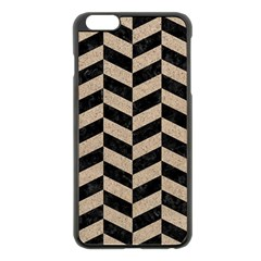 Chevron1 Black Marble & Sand Apple Iphone 6 Plus/6s Plus Black Enamel Case by trendistuff