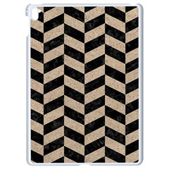 Chevron1 Black Marble & Sand Apple Ipad Pro 9 7   White Seamless Case by trendistuff