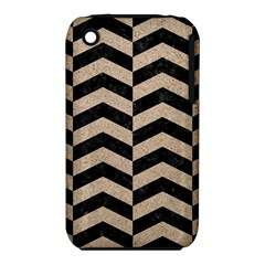 Chevron2 Black Marble & Sand Iphone 3s/3gs by trendistuff