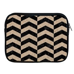 Chevron2 Black Marble & Sand Apple Ipad 2/3/4 Zipper Cases by trendistuff