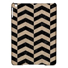 Chevron2 Black Marble & Sand Ipad Air Hardshell Cases by trendistuff