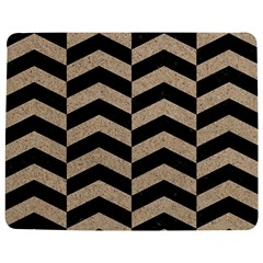 Chevron2 Black Marble & Sand Jigsaw Puzzle Photo Stand (rectangular) by trendistuff