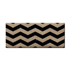 Chevron3 Black Marble & Sand Cosmetic Storage Cases by trendistuff