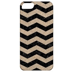 Chevron3 Black Marble & Sand Apple Iphone 5 Classic Hardshell Case by trendistuff