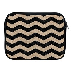 Chevron3 Black Marble & Sand Apple Ipad 2/3/4 Zipper Cases by trendistuff