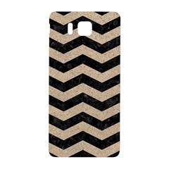 Chevron3 Black Marble & Sand Samsung Galaxy Alpha Hardshell Back Case by trendistuff
