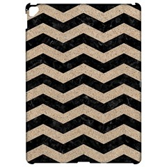Chevron3 Black Marble & Sand Apple Ipad Pro 12 9   Hardshell Case by trendistuff