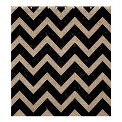 Chevron9 Black Marble & Sand (r) Shower Curtain 66  X 72  (large)  by trendistuff
