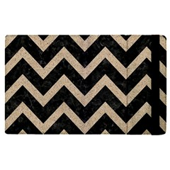 Chevron9 Black Marble & Sand (r) Apple Ipad Pro 12 9   Flip Case by trendistuff