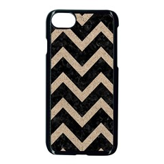 Chevron9 Black Marble & Sand (r) Apple Iphone 8 Seamless Case (black) by trendistuff