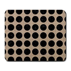 Circles1 Black Marble & Sand Large Mousepads by trendistuff