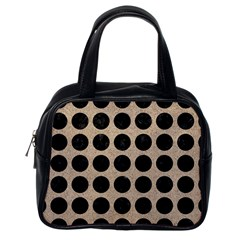 Circles1 Black Marble & Sand Classic Handbags (one Side) by trendistuff