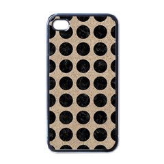 Circles1 Black Marble & Sand Apple Iphone 4 Case (black) by trendistuff