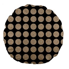 Circles1 Black Marble & Sand (r) Large 18  Premium Flano Round Cushions by trendistuff