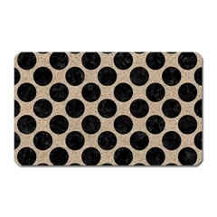Circles2 Black Marble & Sand Magnet (rectangular) by trendistuff