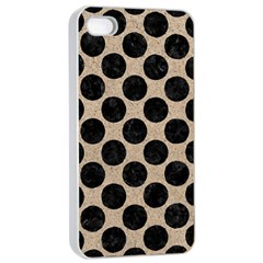 Circles2 Black Marble & Sand Apple Iphone 4/4s Seamless Case (white) by trendistuff