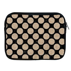 Circles2 Black Marble & Sand (r) Apple Ipad 2/3/4 Zipper Cases by trendistuff