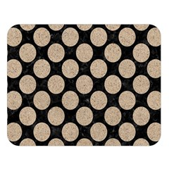 Circles2 Black Marble & Sand (r) Double Sided Flano Blanket (large)  by trendistuff